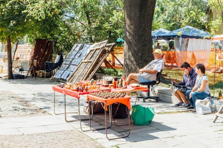 Flohmarkt neben der Alexander Newski Kathedrale | 25h in Sofia, Stilnomaden