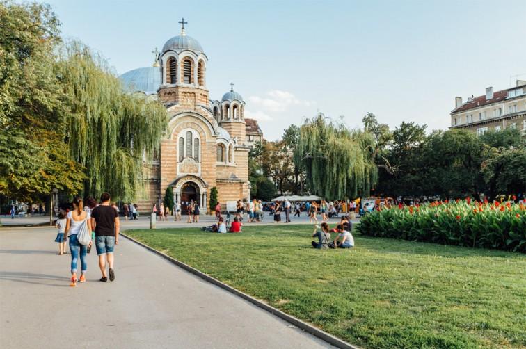 Die Sveti Sedmochislenitsi Kirche in Sofia, Bulgarien