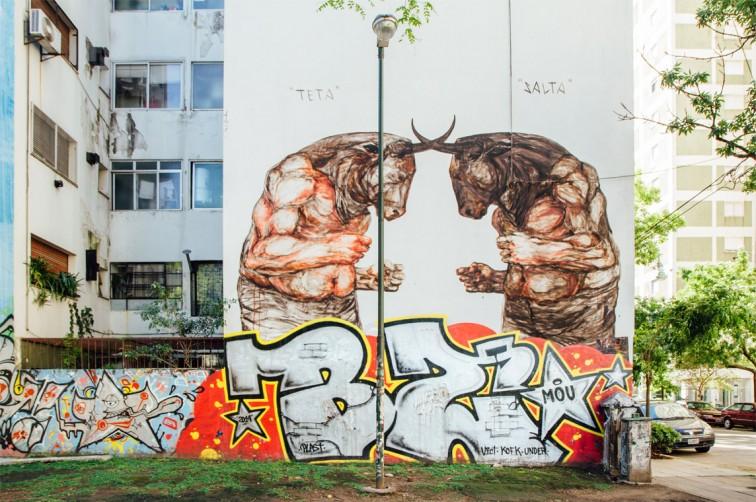 Teta y Salta, Jaz | graffitimundo und Street Art in Buenos Aires, Stilnomaden