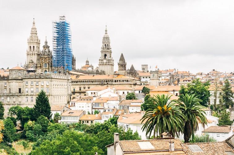 Aussicht vom Parque de la Alameda | 25h in Santiago de Compostela, Stilnomaden