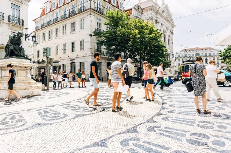 Rua Garrett   25h in Lissabon, Stilnomaden